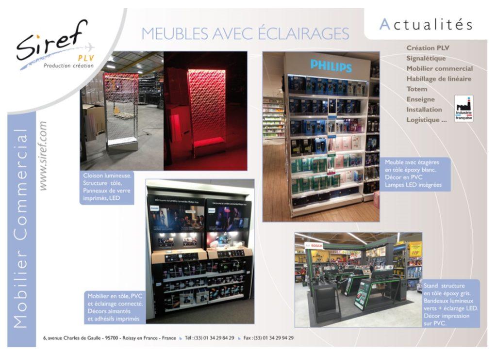 PLV Acier - Totem - signalétique - éclairage