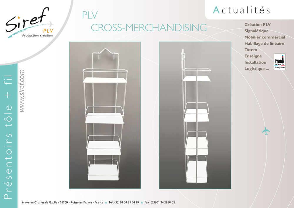 PLV Cross Merchandising pour habillage de linéaire