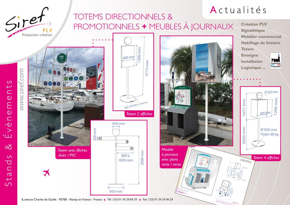 PLV acier - totem signalisation - stands - signalétique