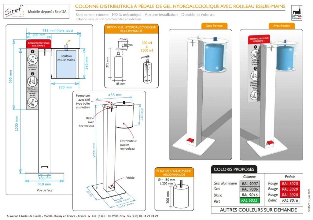 COVID - Industrie Française - PLV métal - Acier
